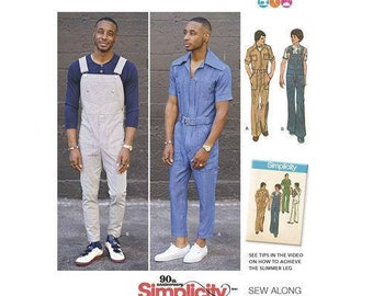 d06c7662fc42 Simplicity Sewing Pattern 8615 Men s Vintage Jumpsuit and Overalls Mimi G s