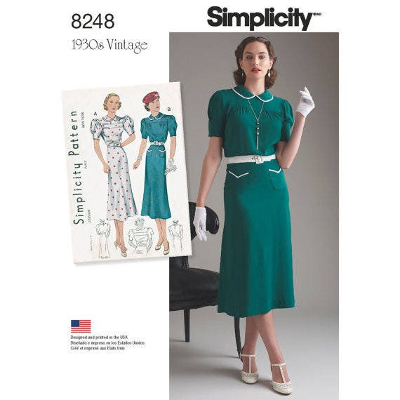 Simplicity 40 Vintage 40's Misses Dresses Sewing Etsy Gorgeous Simplicity Patterns Dresses