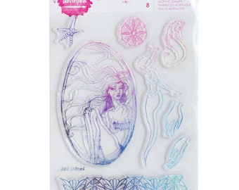 Jane Davenport Clear Acrylic Stamps Paper Crafts/Stamping Supplies