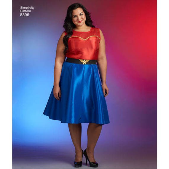 Simplicity 8396 Womens Plus Size Costume Wonder Woman Etsy