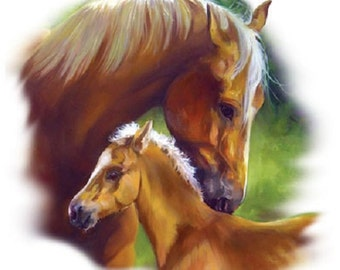 Hold Your Horses Cotton quilt fabric Penny Rose Digital Panel 36x44 Palomino