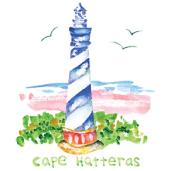 Cape Hatteras phare T - Shirt, Quilt bloc de tissu, sac fourre-tout, tablier, sac cabas, (Sweat, Sweat à capuche disponible sur demande) 747g