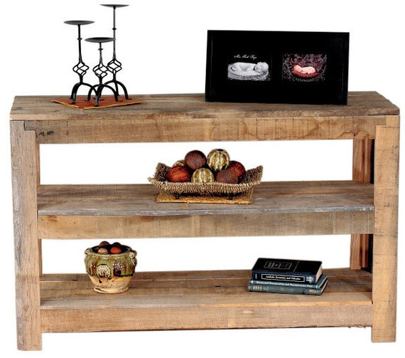 Tremendous Reclaimed Oak Console Table Two Shelves Gmtry Best Dining Table And Chair Ideas Images Gmtryco