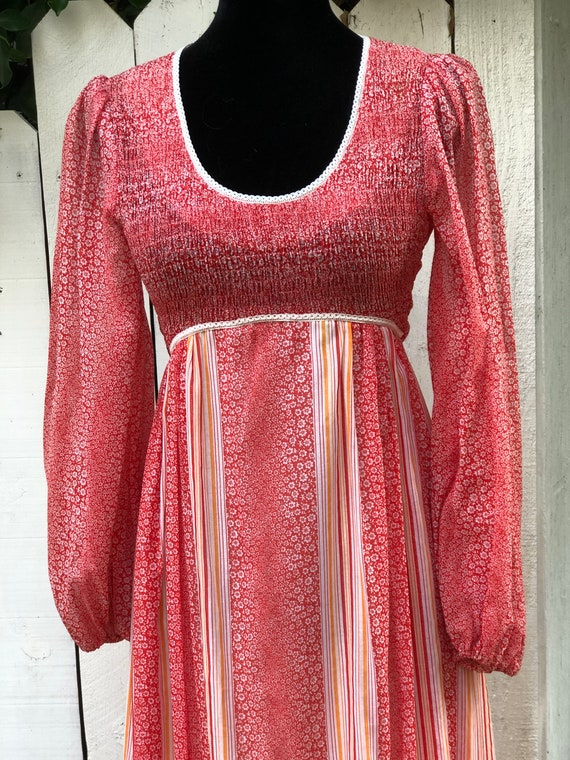 Boho babe gorgeous Candi Jones prairie dress. Vint