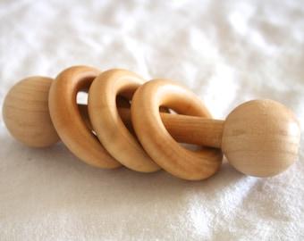 Essential Montessori Classic Wooden Ring Shaker