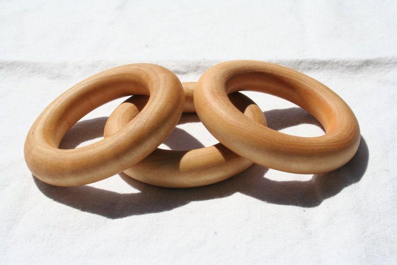 Wooden Ring  Set of Three  Essential Montessori image 0