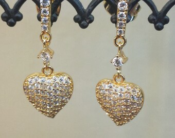SALE - Kate Middleton Inspired Pave Leaf Earrings