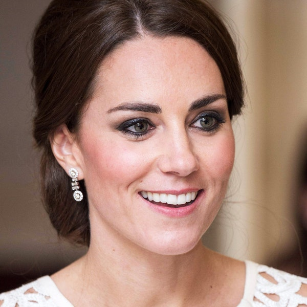 SALE Kate Middleton  Inspired Halo CZ Earrings image 1