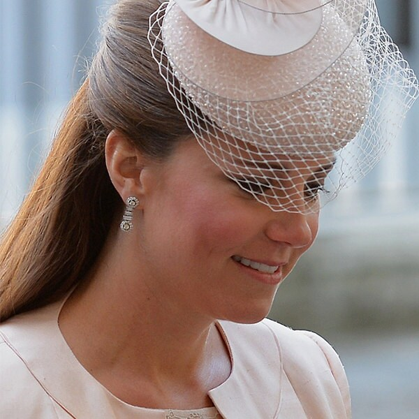 SALE Kate Middleton  Inspired Halo CZ Earrings image 2
