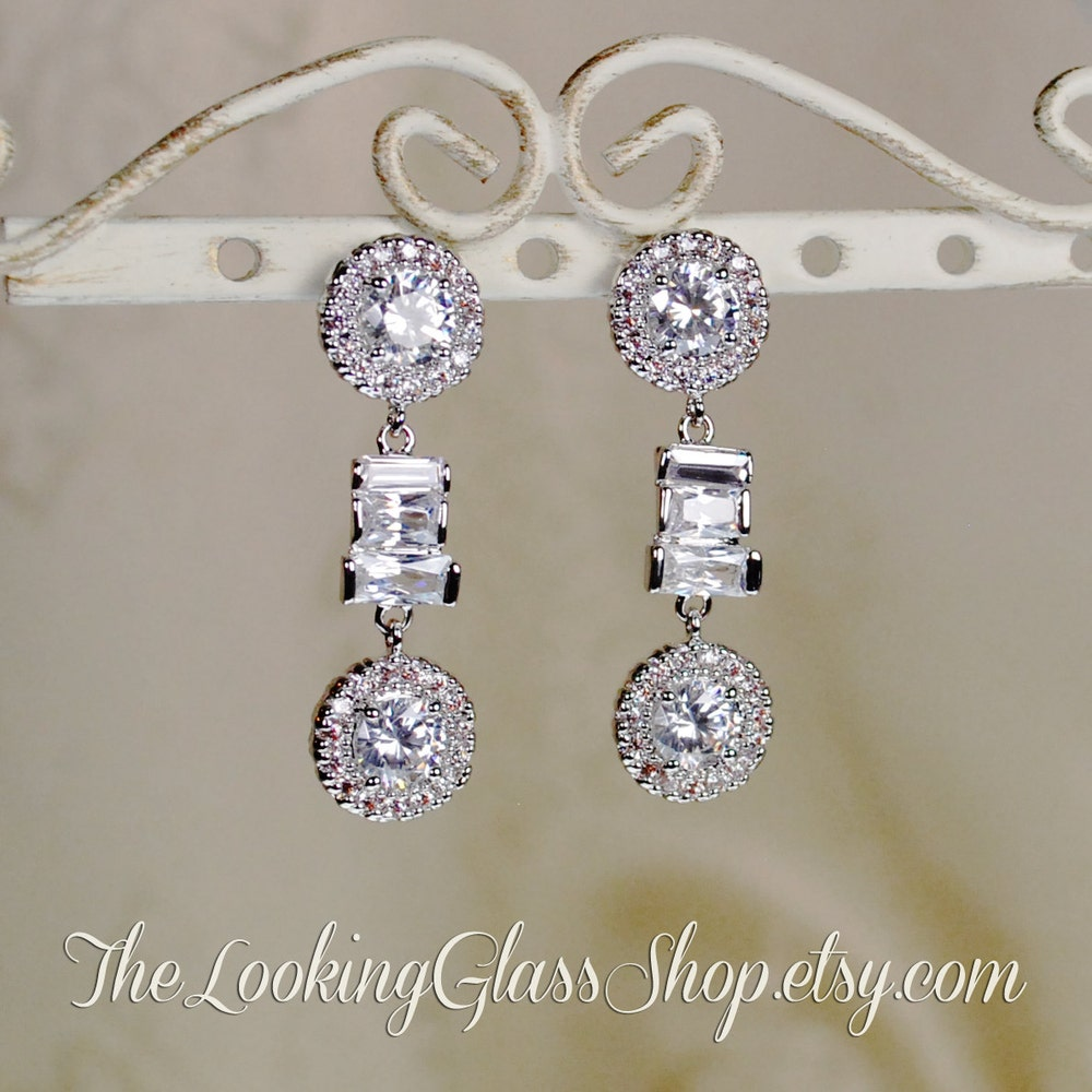 SALE Kate Middleton  Inspired Halo CZ Earrings image 0