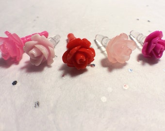 Valentine Rose Assortment cell phone charm, dust plug charm, shower gift