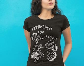 Feminist Shirt: Feminism Is For Everybody, Feminism Shirt, bell hooks, size S-3XL
