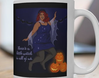 Witch Mug: There's A Little Witch In All Of Us, halloween mug