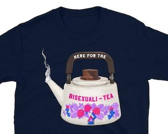 Bi Pride Shirt: Here For The Bisexualitea, lgbtq pride tee
