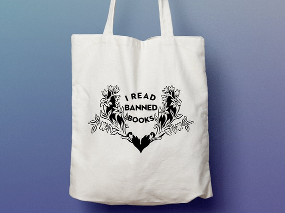 23538d753313 Book Lover Gift  I Read Banned Books Tote Bag bibliophile