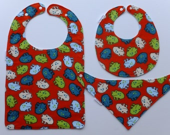 Toddler Bibs, Froggies Everywhere! Bibs for Babies to Toddlers and beyond!