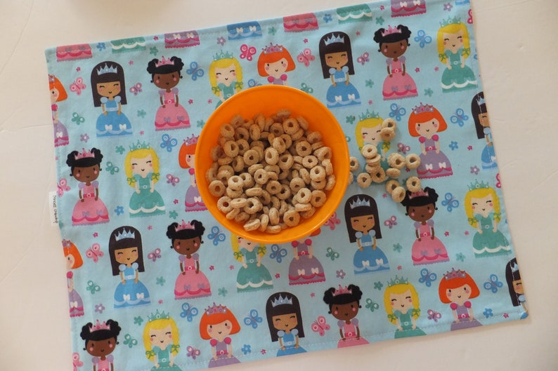 Montessori accessories School Placemat Kids Cloth Napkin and Placemat lunchbox Princesses Placemat Kids Placemat Toddler Feeding