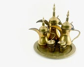 Vintage Traditional Arabic Coffee Dallah Set
