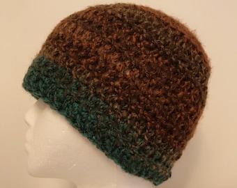 Brown Beanie Brown Beanie Hat Brown Winter Hat Brown Crocheted Hat Brown Crocheted Beanie Brown Crocheted Beanie Hat