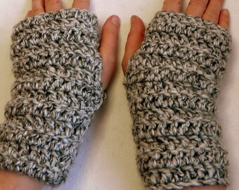 Fingerless Gloves Gray Fingerless Gloves Gray Crocheted Fingerless Gloves Grey Fingerless Gloves Grey Crocheted Fingerless Gloves