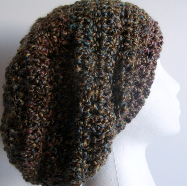 Brown Slouchy Brown Slouchy Hat Brown Crocheted Slouchy Hat