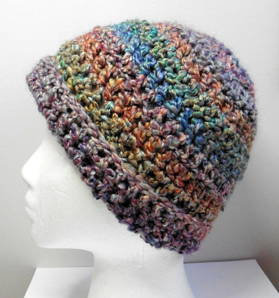 Blue Beanie Crocheted Beanie Blue Crocheted Beanie Hat Multi Colored Beanie  Hat 02f98ccefff