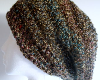 Brown Slouchy Brown Slouchy Hat Brown and Blue Slouchy Hat Brown Tweed Slouchy