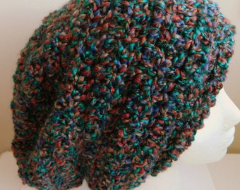 Burgundy Slouchy Teal Slouchy Purple Slouchy Burgundy Crocheted Slouchy Crocheted Slouchy Hat