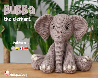 Crochet Elephant Pillow with Pattern | 270x340