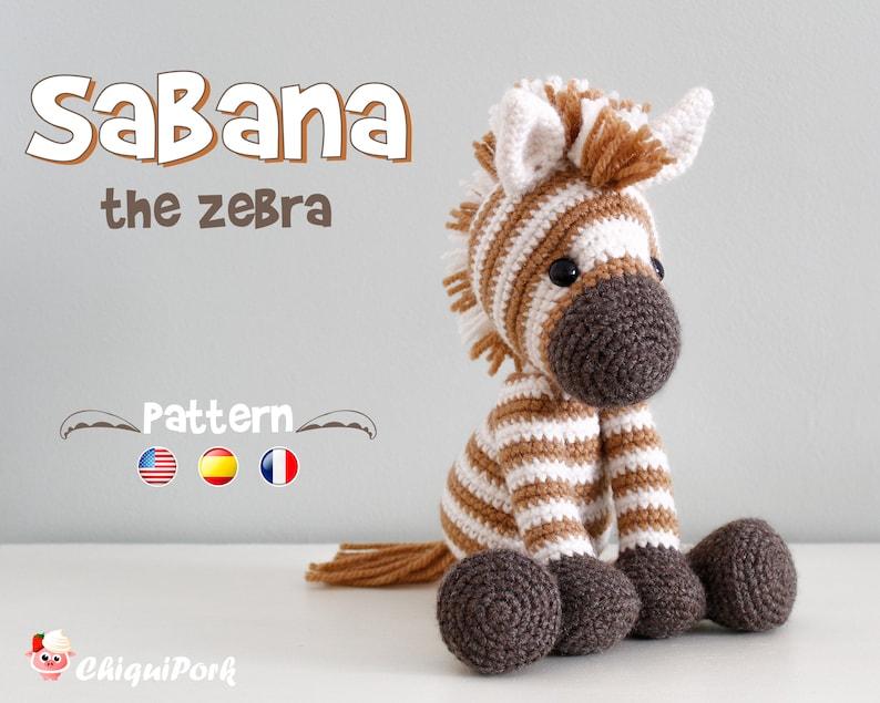 Crochet Zebra PATTERN Amigurumi Zebra pattern pdf tutorial  image 0