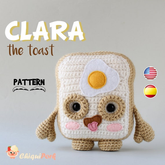 Patrón crochet Tostada Amigurumi Tostada pdf tutorial   Etsy