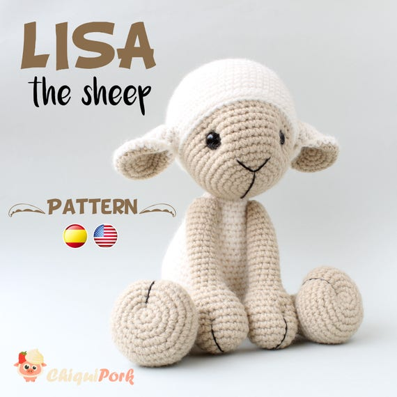 Crochet Sheep PATTERN Amigurumi pdf tutorial LISA the | Etsy