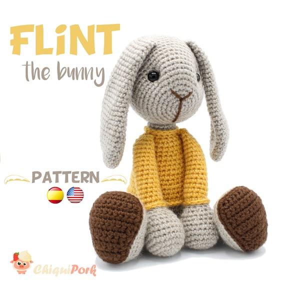 Patrón crochet Conejo Amigurumi pdf tutorial FLINT el | Etsy