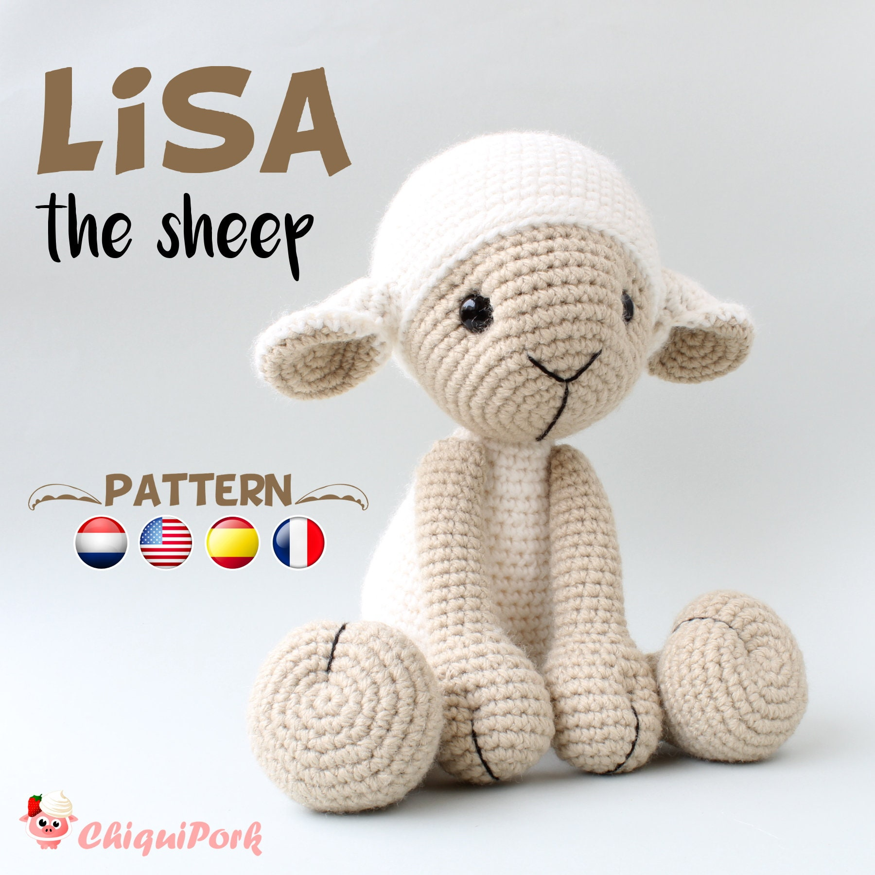 Crochet Sheep Pattern Amigurumi Pdf Tutorial Lisa The Etsy