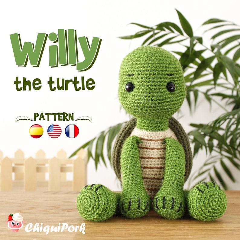 Crochet Turtle PATTERN Amigurumi pattern Turtle pdf tutorial  image 0