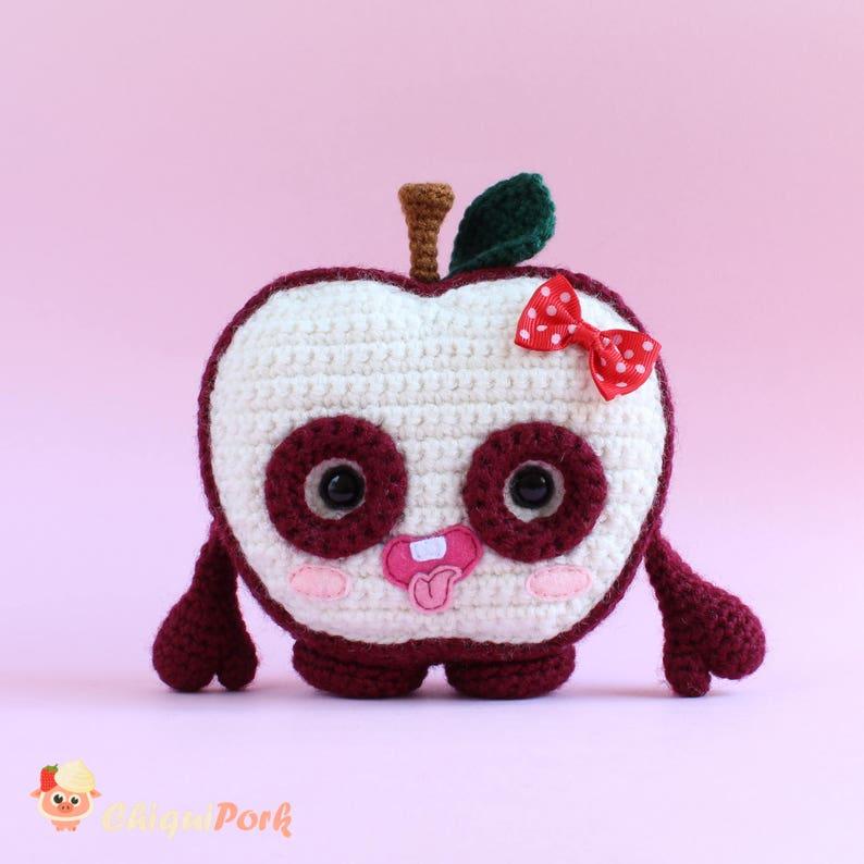 Hand knitted toy Green Apple Dolls Amigurumi Crochet Artist Clay ... | 794x794