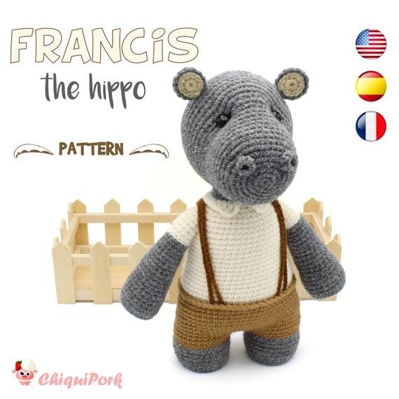 Patrón crochet Hipopótamo Amigurumi Hipopótamo pdf tutorial | Etsy