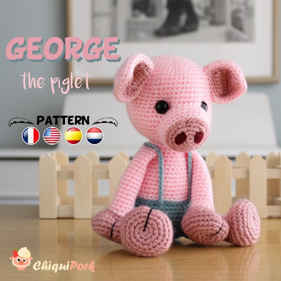 Amigurumi pattern for a dancing Gunter pig. Crochet piglet | 570x570