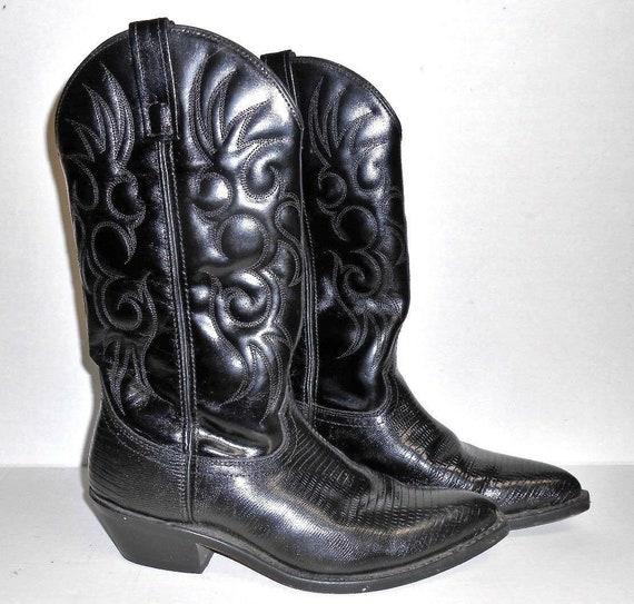 Men's Laredo Boots Size 9 Western Black Leather Co