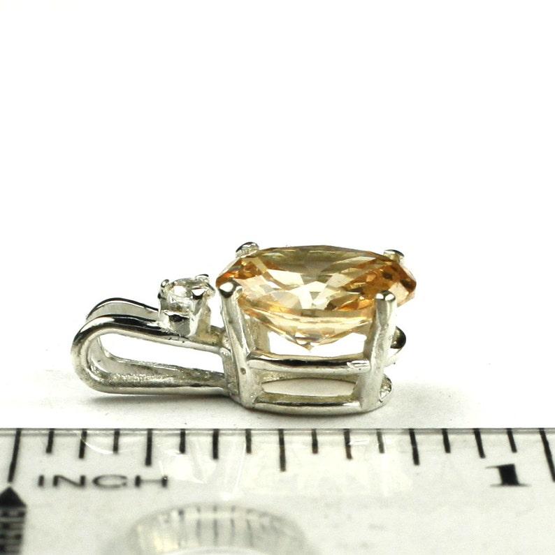 925 Sterling Silver Pendant Champagne CZ SP021