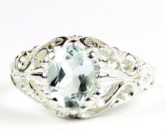 Aquamarine, 925 Sterling Silver Ring, SR113