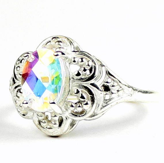 Mercury Mist Topaz 925 Sterling Silver Ladies Ring SR125-Handmade