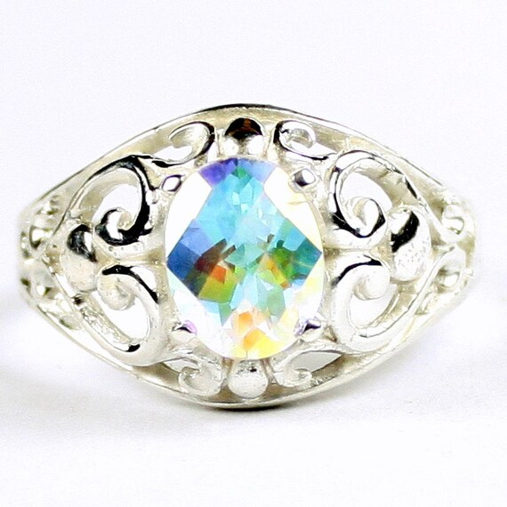 SR111 Sterling Silver Ladies Ring Amethyst