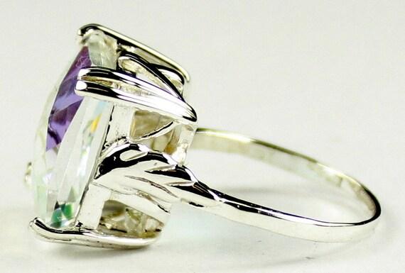 Handmade • SR016 MERCURY MIST TOPAZ Sterling Silver Ladies Ring