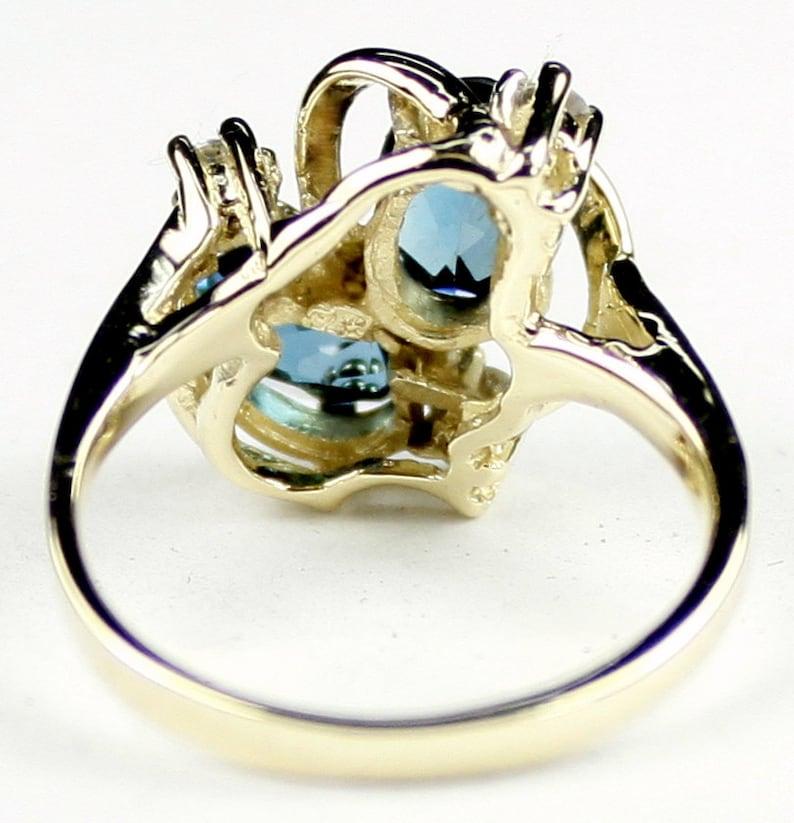 London Blue Topaz R016 10Ky Gold Ring