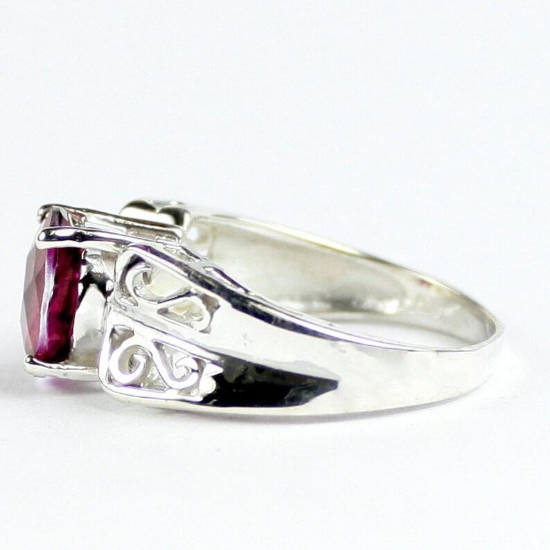 Crimson Fire Topaz SR281 925 Sterling Silver Ring Solitaire Rings ...
