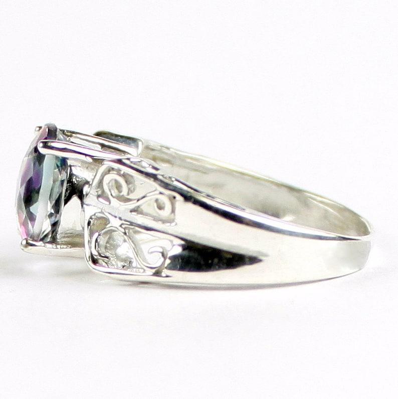 925 Sterling Silver Ring Mystic Fire Topaz SR281
