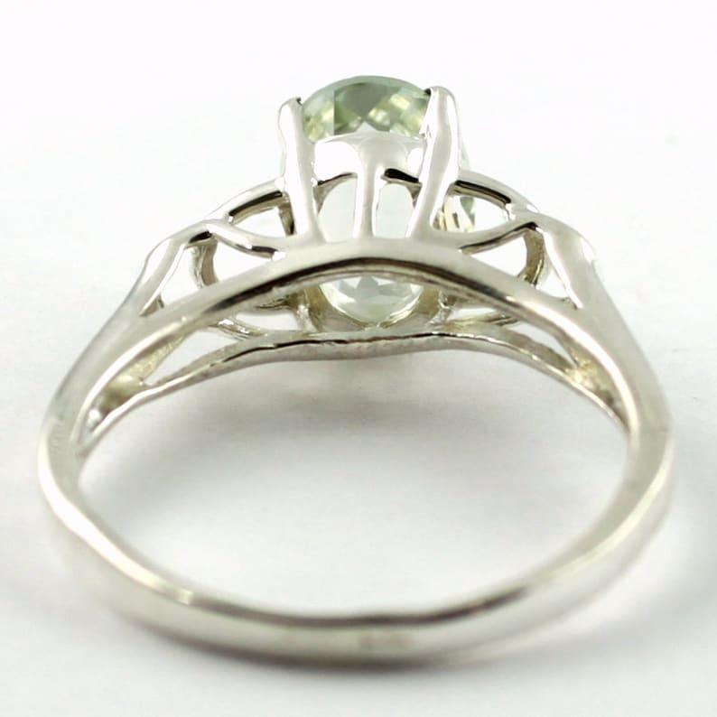 925 Sterling Silver Ring Green Amethyst SR300