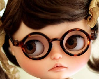 Beautiful retro Brown leopard glasses for Custom Blythe and Neo Blythe, bears...