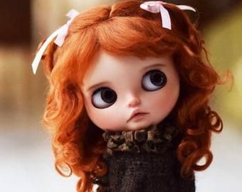 "Pure MOHAIR WIG 10-11"" Red Fox Josephine for dolls : Blythe et Neo Blythe Custom, American Girl ..."